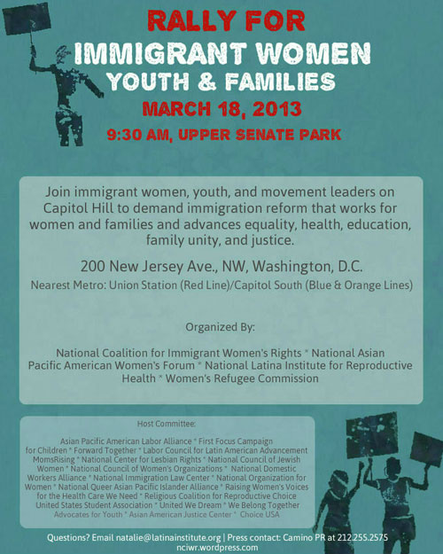 March-18-Rally-for-Immigrant-Women-Youth-&-Families-Flyer